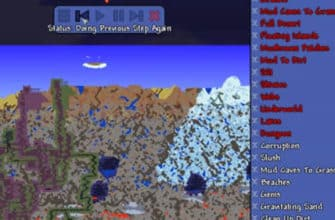 Мод WorldGen Previewer для Террарии